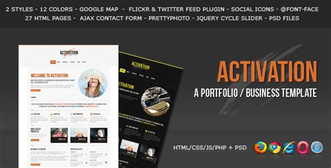 business portfolio template activation a business portfolio template by