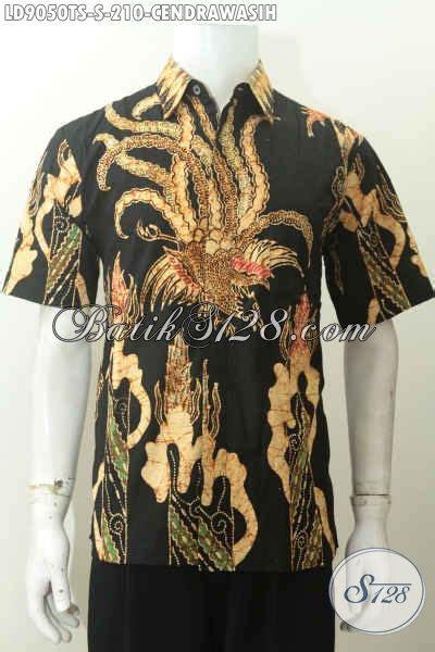 Baju Batik Hem Kemeja Kerja Pria Lengan Pendek 197 baju batik hem pria lengan pendek motif unik kemeja batik tulis soga 200 ribuan pas untuk
