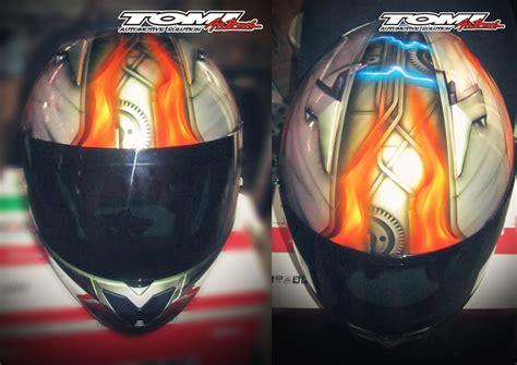 Helm Tema Modifikasi Helm Airbrush Tema Transformers Tomi Airbrush