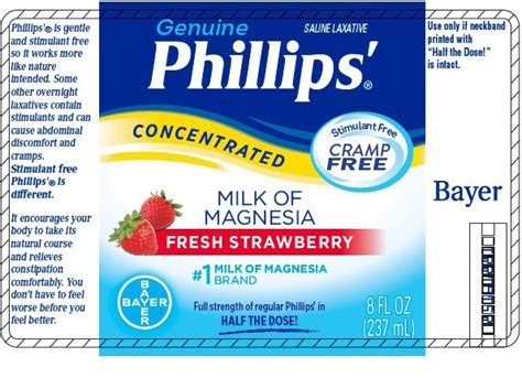 Phillips Milk Of Magnesia phillips milk of magnesia concentrated fresh strawberry