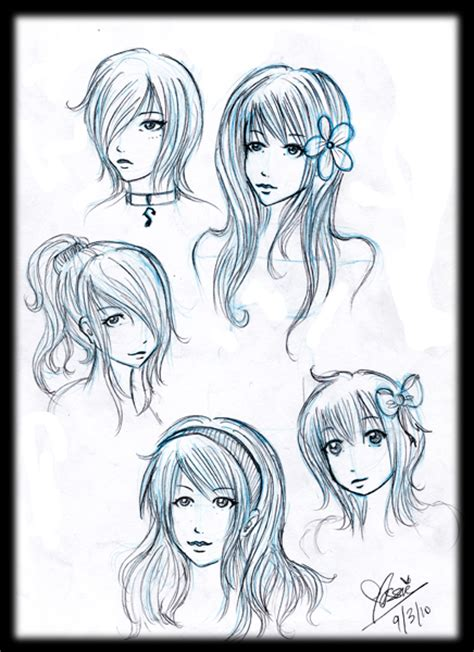 girl hairstyles drawing tumblr girl hairstyles by alwizhyper on deviantart