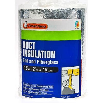 home depot insulation prices e o 12 in x 15 ft foil and fiberglass duct insulation