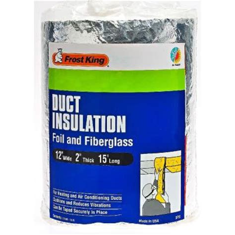 ductwork home depot e o 12 in x 15 ft foil and fiberglass duct insulation