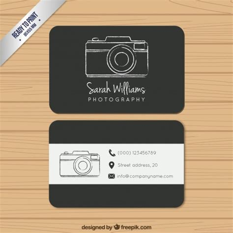 photography card templates black photography business card vector free