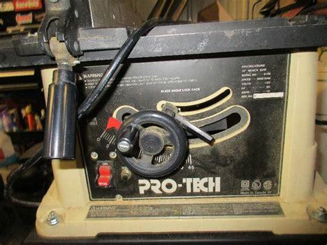 pro tech bench saw pro tech 4106 table saw manual