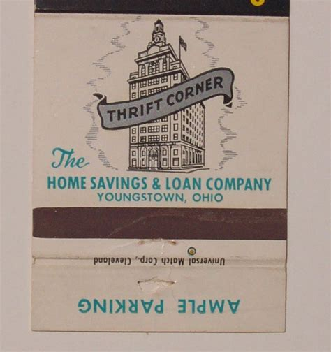 1950s home savings loan co matchbook youngstown oh mb ebay