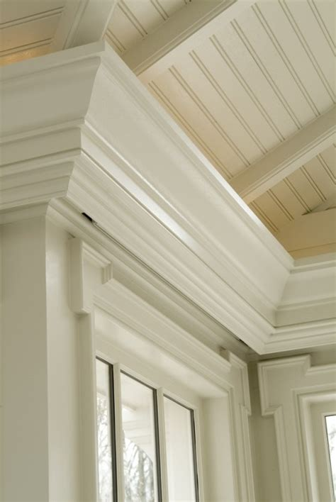 Trim For Ceiling by Trim At Ceiling Edge Exposed Rafters Beadboard Ceiling