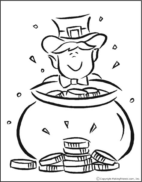 rainbow and pot of gold coloring page az coloring pages