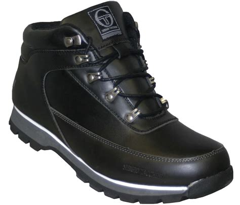 mens black boots size 8 new mens sergio tacchini gamma black lace up boots size 7