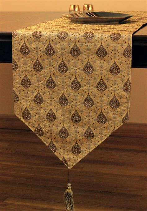 jacquard table runner chic jacquard table runner banarsi designs