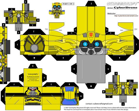 Transformer Papercraft - paper crafts transformer animated bumblebee