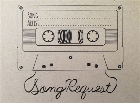 song request card template song request mixtape card digital design style 2