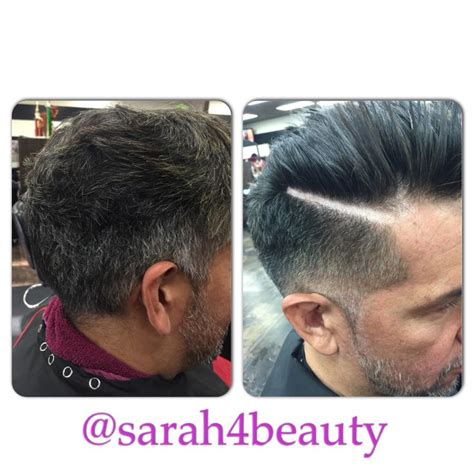 coloring gray hair before and after men s grey blending before and after color and cut hair