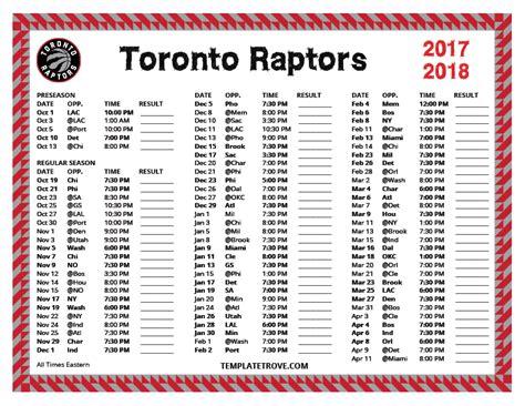 printable raptors schedule printable 2017 2018 toronto raptors schedule