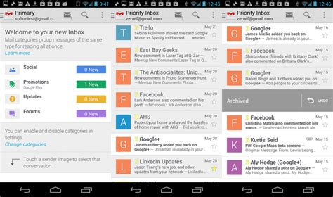 gmail android on with the new gmail updates for android and ios softonic
