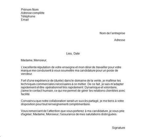 Vendeuse Lettre De Motivation Gratuite Exemples De Lettre De Motivation Vendeuse