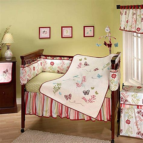nojo crib bedding nojo 174 alexis garden crib bedding collection buybuy baby