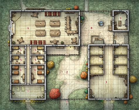 Cabin Blueprint by Tactical Game Maps On Behance