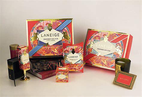 new year packet fan laneige new year package design on behance