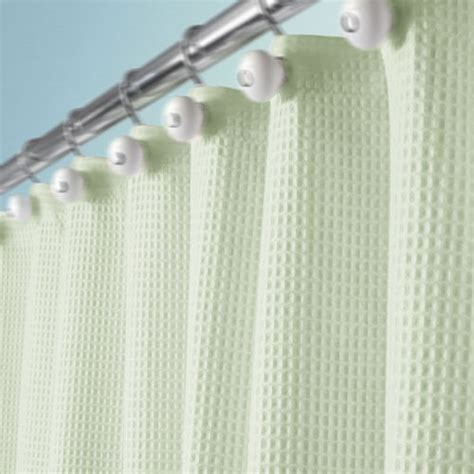 green waffle shower curtain home