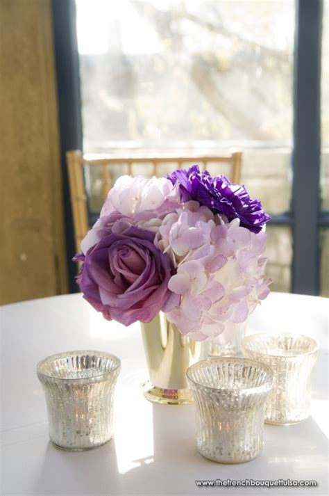 diy purple wedding centerpieces boba s take a look at this lovely vintage style table layout above with scattered
