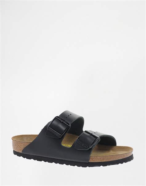 sandals with 2 straps birkenstock birkenstock arizona black leather two