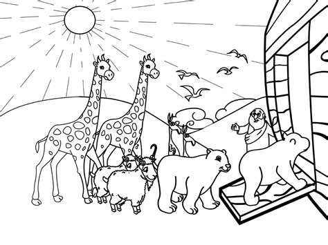 noahs ark story coloring pages coloring pages