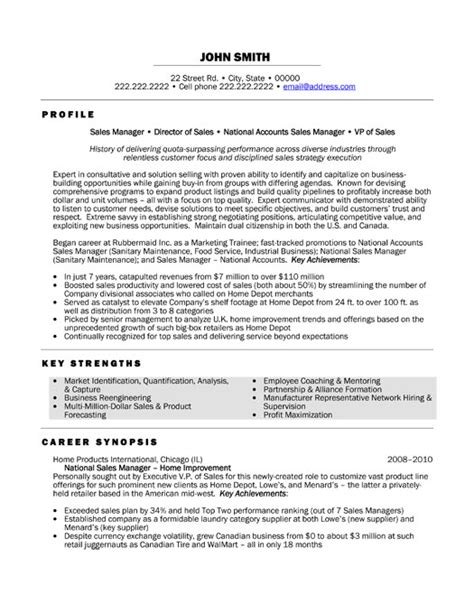 management resume sles national sales manager resume template premium resume