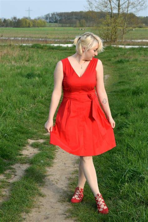 dress rotes kleid esprit rote schuhe shoes