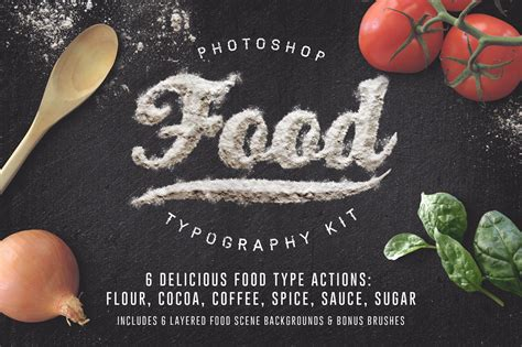 food typography tutorial photoshop food typography psd actions actions on creative market