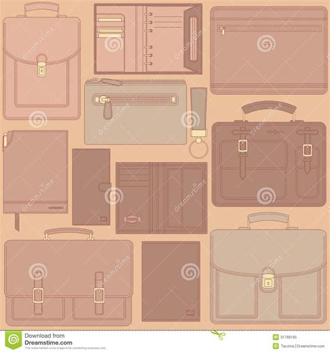 leather goods pattern seamless pattern with leather goods royalty free stock