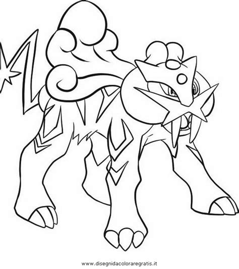 pokemon coloring pages raikou free coloring pages of raikou pokemon