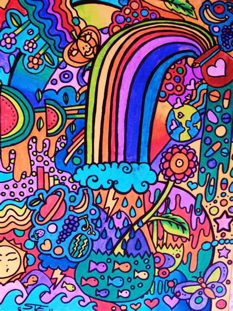 Rainbow Doodles By Vazest On Deviantart