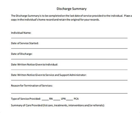 discharge summary template surgery 28 surgery discharge summary template 8 hospital