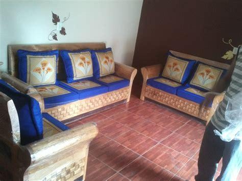 imagenes de salas minimalistas de madera sala de madera con cojines 10 500 00 en mercado libre