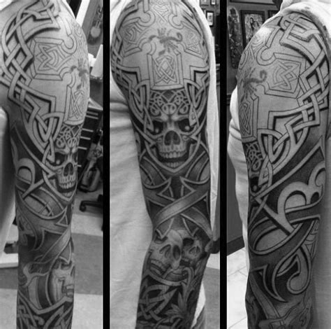 40 celtic sleeve tattoo designs f 252 r m 228 nner manly ink