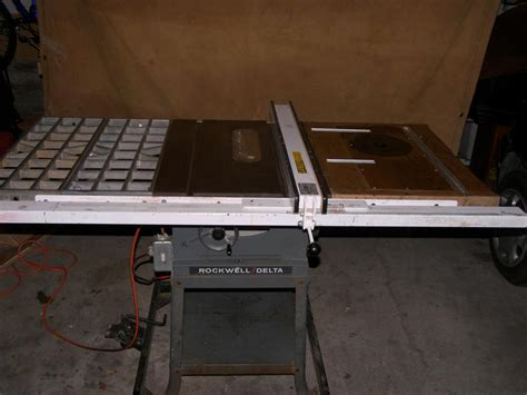 rockwell delta 10 quot table saw with biesemeyer fence and