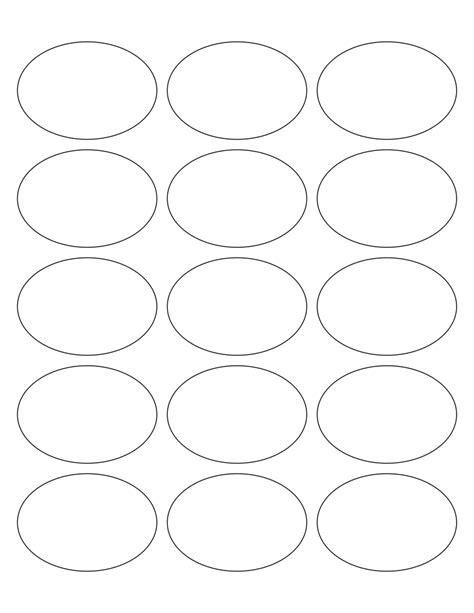 White Glossy Labels 2 5 X 1 7 Quot Oval L 6 Wholesale Supplies Plus Oval Sticker Template