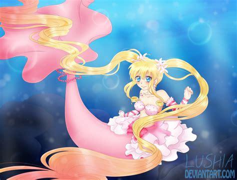 Mermaid Princess By Lushia On Deviantart Mermaid Princess Drawings