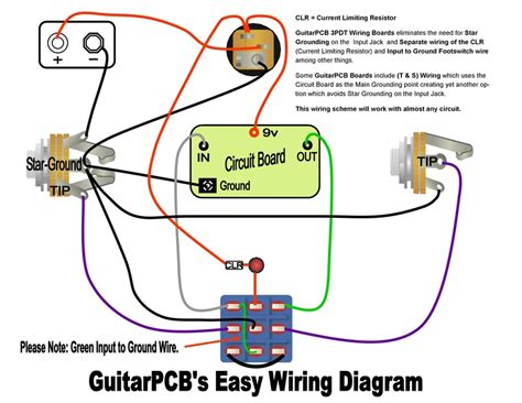 led wiring diagram pedal guitar effects pedal building