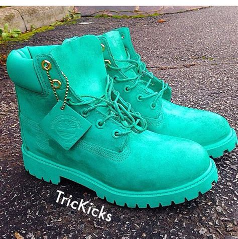 colored timbs custom timberlands gift box blue