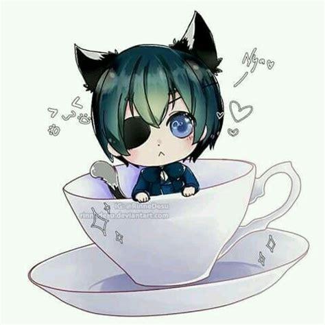 Kaos Anime Seal Black anime black butler cat chibi ciel phantomhive image 4731899 by violanta on favim
