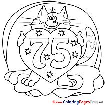happy birthday cat coloring page birthday coloring pages