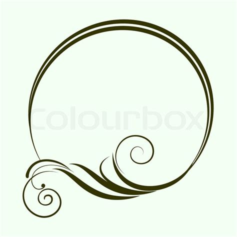 Graphic Design Home Decor round frame with decorative branch vector illustration