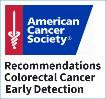 american cancer society guidelines for the early detection american cancer society recommendations for colorectal
