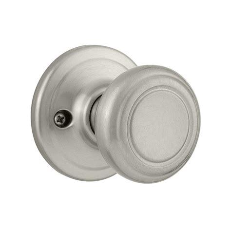 What Is A Dummy Door Knob Set by Shop Kwikset Cameron Satin Nickel Dummy Door Knob At Lowes