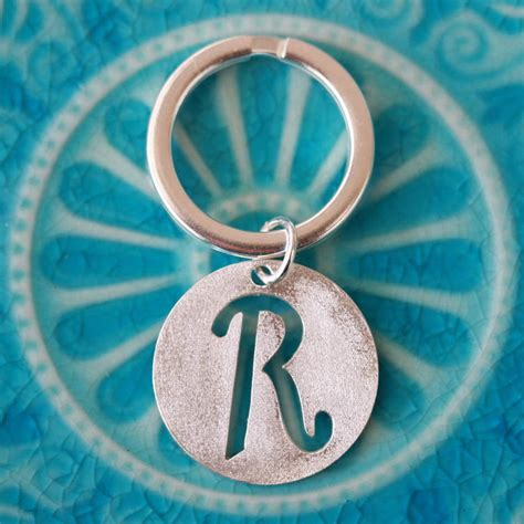 Handmade Silver Jewellery Bristol - handmade personalised silver chunky keyring by jemima