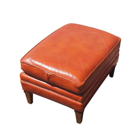 burnt orange ottoman midcentury retro style modern architectural vintage