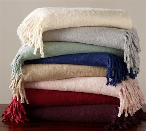 Pottery Barn Mohair Throw solid faux mohair oversized throw pottery barn