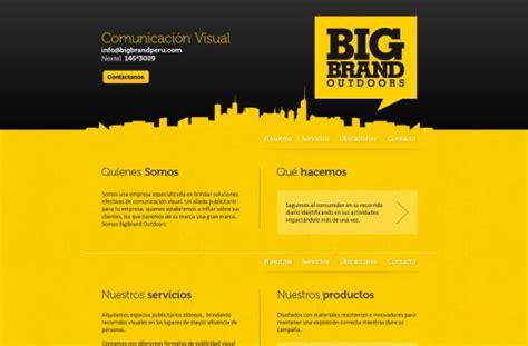 web design inspiration yellow design inspiration yellow websites vandelay design